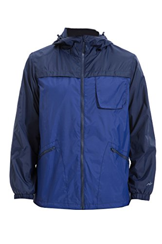 b09204446 Trailside Supply Co. Big Boys  Waterproof Front-Zip Hooded Rain ...