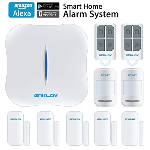 ENKLOV WiFi/PSTN DIY Home Security Alarm System Kit with Door/Window