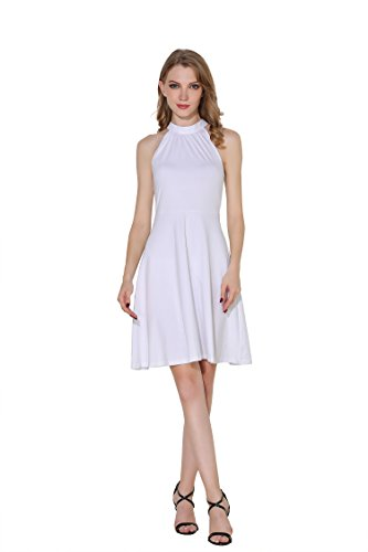 a3392db1661b Hika women's cotton stand collar casual halter sleeveless a line Dress  Products Feature: Type:Halter dress Brand Name: HIKA Occasion: Home,  holiday, ...