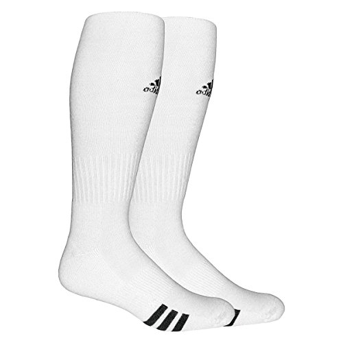 c9b50a0b97c8 adidas Unisex Rivalry Soccer 2-Pack Otc sock, White/black, Medium