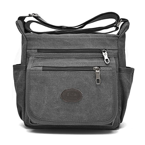 dc1400c5c3 Oakarbo Crossbody Bag Nylon Multi-Pocket Travel Shoulder Bag 1204 ...