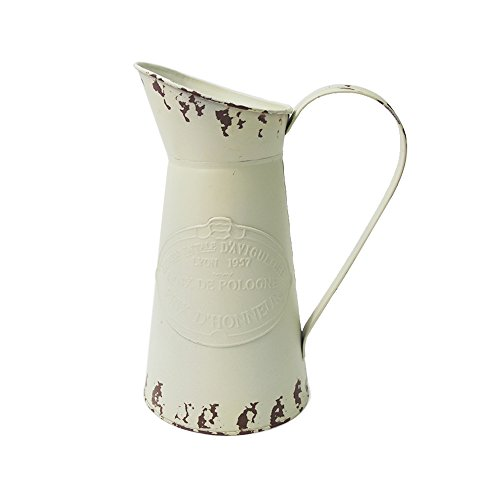 Watering Honey Elegant French Style Country Primitive Pitcher Flower