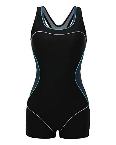 69a4d145e3 beautyin Women's Swimsuit Boyleg Racerback One Piece Athletic ...