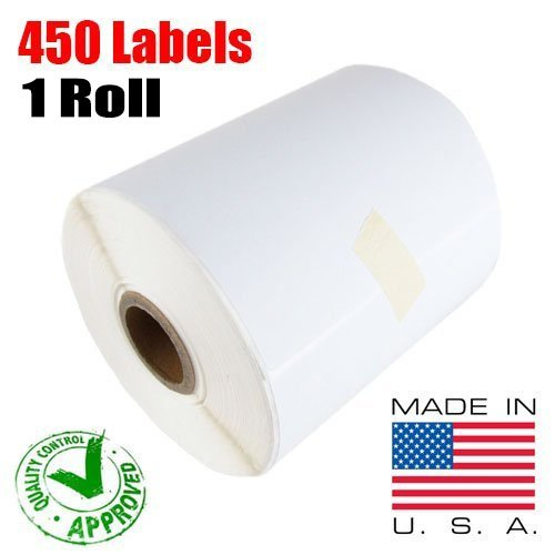iMBAPrice – 1 Roll of 450 USA 4×6 Direct Thermal Labels for Zebra