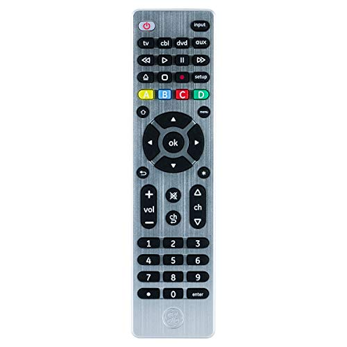 GE 6 Device Universal Remote, Compact Design, Works with